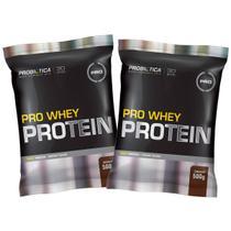 Kit 2x Whey Pro 500g  - Chocolate - Probiótica -
