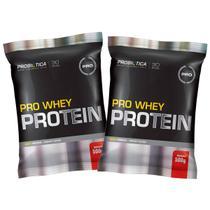 Kit 2x Whey Pro 500g  - Morango - Probiótica -