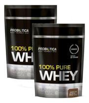 Kit 2x Whey Protein 100% Pure Whey Probiótica Refil 825g -