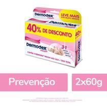 Kit 2x60g Dermodex Prevent Pomada p/ Prevenção de Assaduras -