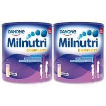Kit 2x800g Milnutri Complete Suplemento Infantil Baunilha -