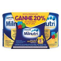 Kit 2x800g Milnutri Premium Composto Lácteo Infantil Lata - Danone