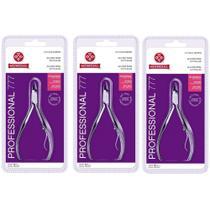 Kit 3 Alicates de Cutícula Mundial 777 Inox Manicure Pedicure Podologia -
