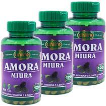 Kit 3 Amora Miura 120 Cápsulas Unilife Vitamins -