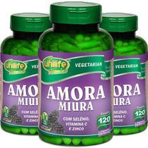 Kit 3 Amora Miura Unilife 120 Cápsulas -