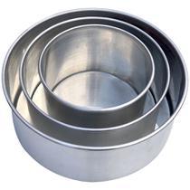 Kit 3 Assadeiras Formas Redondas Para Bolo em Alumínio Borda Alta Reforçada - Epm Home