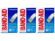 Kit 3 Band-Aid Transparente Proteção Respirável 40 unidades -