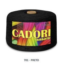 kit 3 Barbante Cadori N06 - 1,8KG Preto -