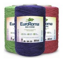 Kit 3 Barbante Euroroma 1.8kg N8 Cores Variadas -