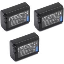 Kit 3 Baterias + 2 Carregadores NP-FW50 para câmera digital e filmadora Sony NEX-3, NEX-3A, NEX-3D, NEX-5, NEX-5K - Para Sony