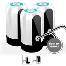 Kit 3 Bebedouro Bomba Elétrica P Garrafão Galão Água Recarregável Adaptador USB - 123 Util