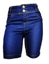 Kit 3 Bermudas Jeans Feminina Pedal Cós Alto Plus Size - Opa Linda