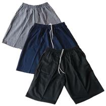 Kit 3 bermudas moletom masculina com 3 bolsos 36 ao 60 plus size - Dalri