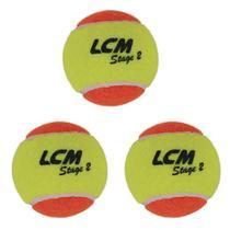 Kit 3 Bolas De Tênis Stage 2 Lcm -