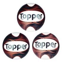 Kit 3 Bolas Topper Slick II - Campo, Futsal e Society -