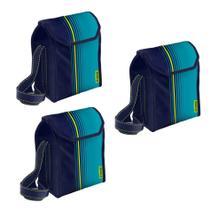Kit 3 Bolsa Térmica Cooler 6 Litros Com Alça Alimentos e Bebidas Academia - Soprano -