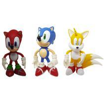 Kit  3 Bonecos Sonic Collection - Tails - (knucles) - Oferta - Action Figure