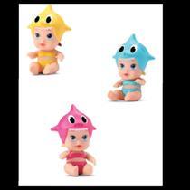Kit 3 Bonequinhas Little Dolls Tubaraozinho DiverToys -