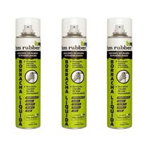 Kit 3 Borrachas Líquida em Spray Aerossol Hm Rubber 400 ml -