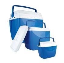 Kit 3 Caixa Térmica Cooler Combo 34 + 18 + 6 Litros - Mor -