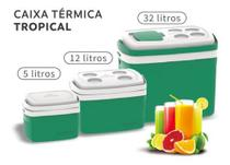 Kit 3 Caixa Térmica Cooler Combo De 32 L 12 L 5 Litros - Soprano