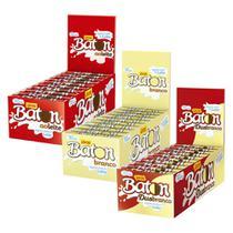 Kit 3 Caixas Baton - Ao leite, Branco e Duo - Garoto -