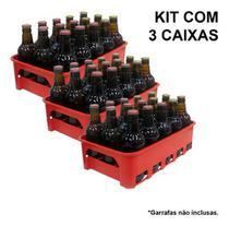 Kit 3 Caixas Engradado Cerveja 300ml P/ 15 Garrafas - Icepack