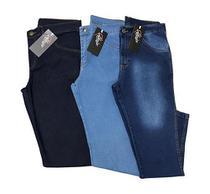 Kit 3 Calças Jeans Masculina Tradicional Original - Sortidas - Almix