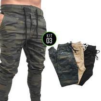 Kit 3 Calças Jogger Skinny Vira Lata Wear Original -