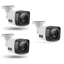 Kit 3 Câmera Segurança Bullet 4x1 AHD CVI TVI Citrox CX2920 -