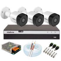 Kit 3 Câmeras de Segurança Full HD 1080p VHD 3230 + DVR Intelbras Full HD 8 Ch + Acessórios -