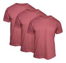 Kit 3 Camisetas Básica Masculina Bordô - Casual T-shirt - Br Imports