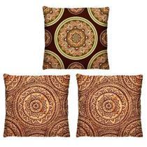 Kit 3 Capas de Almofadas Decorativas Mandala para Sofá 40cm - Virô Presentes