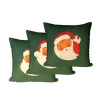 Kit 3 Capas para Almofadas Decorativas Verde Natal - Decoradois