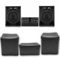 Kit 3 Capas Pra Mini System LG CL65  Impermeável Preta Uv - Fullcapas