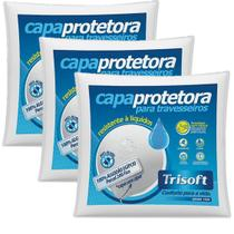 Kit 3 Capas Protetoras p/ Travesseiro 50cmx70cm - Trisoft -