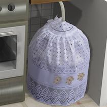 Kit 3 Capas Renda Branca Cozinha: Liquidificador, Água, Gás - Vilela Enxovais