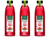 Kit 3 Chá Hibisco e Cranberry Sem Açúcar Campo Largo 900mL -