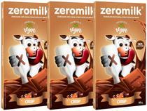 Kit 3 Chocolate Vegano Sem Leite 40% Cacau Crisp Zeromilk -