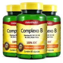 Kit 3 Complexo B - 60 cápsulas - Maxinutri -