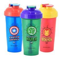 Kit 3 Copos Shaker Fitness Avengers Marvel ZC 1002225K3 - Zona Criativa