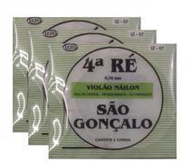 Kit 3 Cordas Nylon Cristal 4 Quarta Ré São Gonçalo 57 -