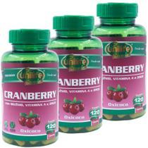 Kit 3 Cranberry Oxicoco 120 cápsulas Unilife Vitamins -
