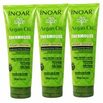 Kit 3 Defrizantes Termoativo Thermoliss Argan Oil 240ml - Inoar