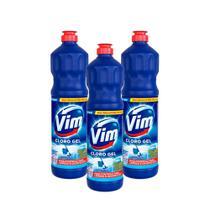 Kit 3 Desinfetantes Vim Multiuso Cloro Gel Original 700ml -