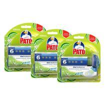 Kit 3 Detergente Sanitário Pato Gel Adesivo Citrus com Aplicador 38g -