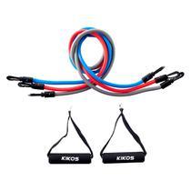 Kit 3 Elásticos E 2 Pegadores Para Exercícios Ab3210 Kikos -