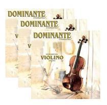 Kit 3 Encordoamento Cordas Violino Dominante Orchestral 89 -