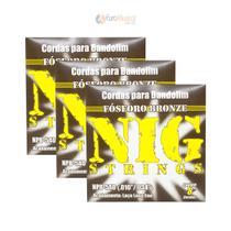 Kit 3 Encordoamentos Bandolim Nig NPB540 -