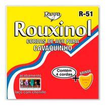 Kit 3 Encordoamentos Cavaquinho Aço Rouxinol R51 Tradicional -